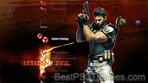 download themes resident evil resident evil 5 ps3 best ps3 themes