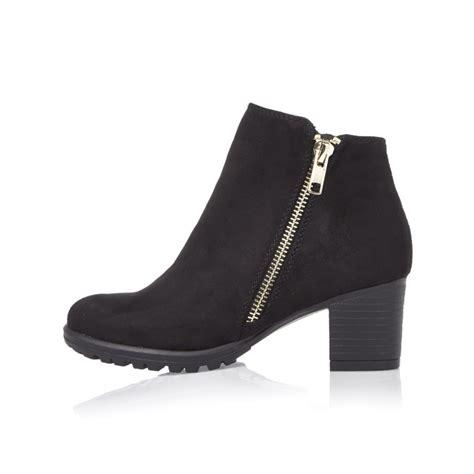 black zipped ankle boots footwear sale