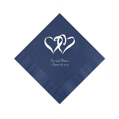 Wedding Napkins by Blue Wedding Napkins Personalized Favors Invitations