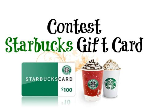 Free Starbucks Gift Card Code 2016 - contest 100 starbucks gift card entertain kids on a