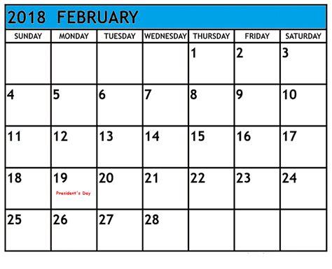 february  holidays  calendar  printable