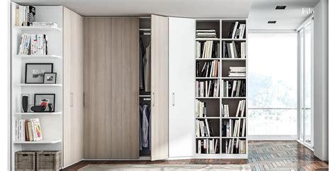 armadio con libreria armadio con libreria in melaminico idfdesign