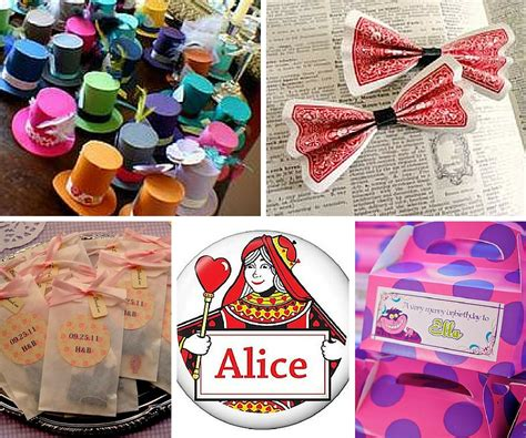 alice in wonderland party ideas birthday in a box - Alice In Wonderland Party Giveaways