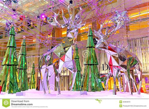 creative decorations decoration at shopping mall editorial image