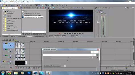 tutorial sony vegas pro 11 intro tutorial come creare una semplice intro con un