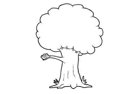 Funny Tree Coloring Pages For Kids Tv Printable Trees Tree Coloring Pages For
