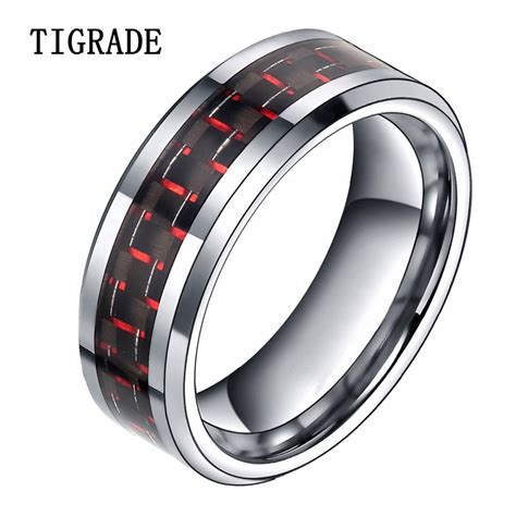 white gold ruby mens wedding band mens