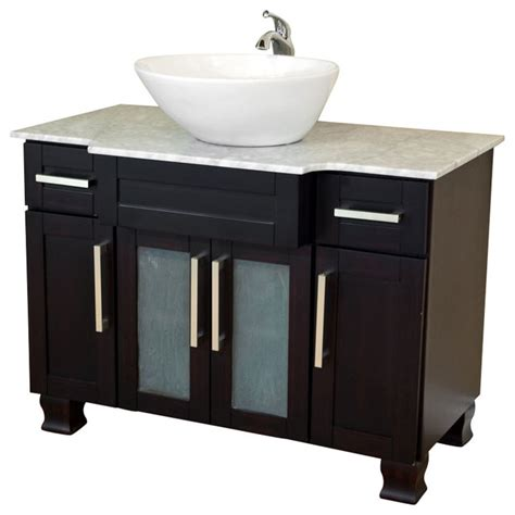 40 inch single sink vanity mahogany modern bathroom