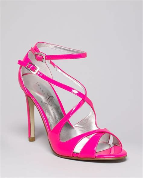 ivanka helice high heel strappy sandals in pink