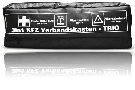Verbandskasten Auto österreich Gesetz by Kfz Trio Verbandskasten Kombitasche Warnweste Warndreieck