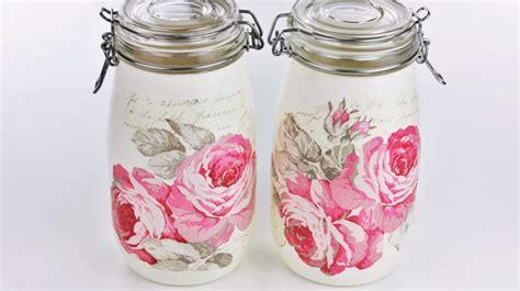tutorial decoupage barattoli vetro come decorare barattoli di vetro con la carta velina ecco