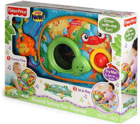 Fisher Price Jungle Mat by Fisher Price Rainforest Tummy Play Baby Mat Rainforest
