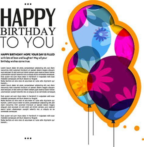 birthday card template free vector happy birthday greeting cards free vector 15 130