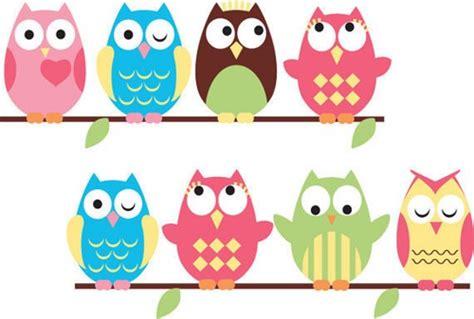 owl bedroom decor kids vinyl wall decal 8 eight cute owls friends decals birds