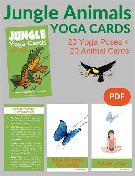 printable animal yoga cards 838 best yoga poses images on pinterest kid yoga yoga