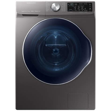 samsung 2 2 cu ft high efficiency stackable front load washer inox grey energy at lowes