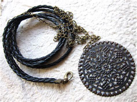 Kalung Batu Wire Etnik Bronze membuat kalung tali kulit koleksikikie