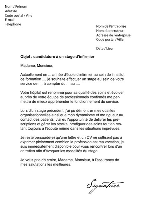 Exemple Lettre De Motivation Diplomã Infirmier Lettre De Motivation Stage Infirmier Mod 232 Le De Lettre