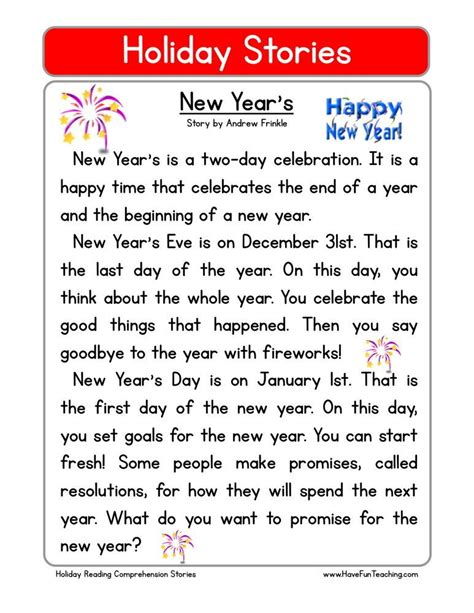 new year s passages for idea reading