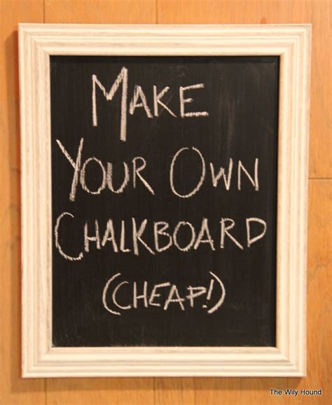 Tj Maxx Home Decor how to make a framed chalkboard the wily hound