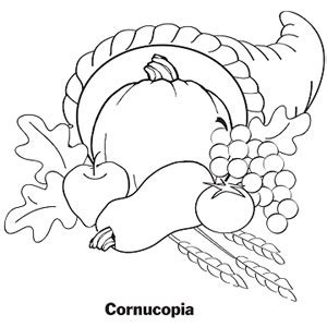 cornucopia coloring pages to print coloring pages