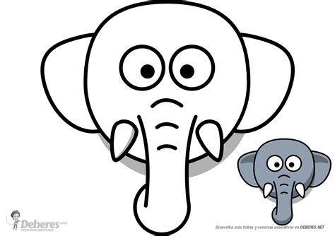 imagenes para colorear elefante dibujo de elefante para colorear