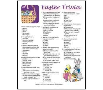easter facts trivia easter games to print easter party game ideas