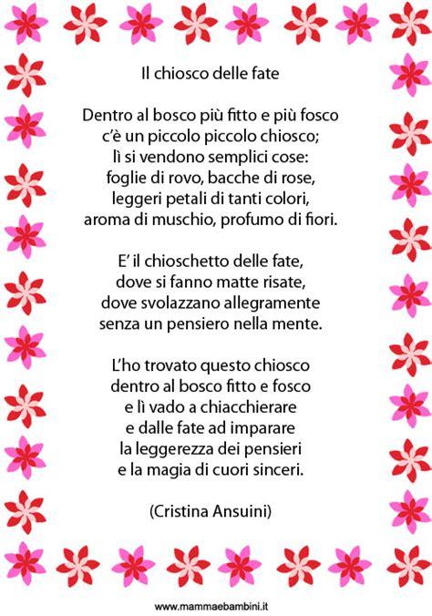 le mie poesie per te testo poesia per bambini il chiosco delle fate mamma e bambini