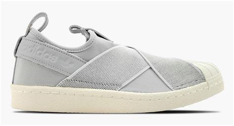 Adidas Slip On Onix Grey Adidas Superstar Slip On Kado Sepatu adidas superstar slip on tech ink clear onix sneakerfiles