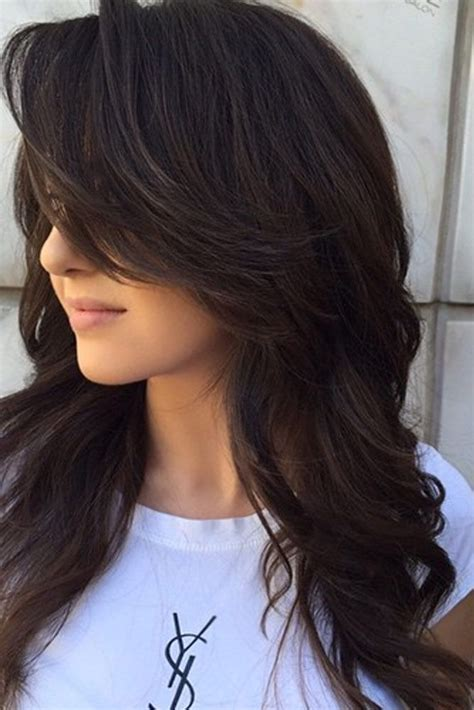 full layers hair cut počet n 225 padů na t 233 ma layered hair na pinterestu 17