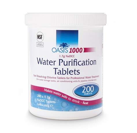 Home Design 15 By 60 by Oasis 1000 Water Purification Tablets 1 7g Nadcc 200
