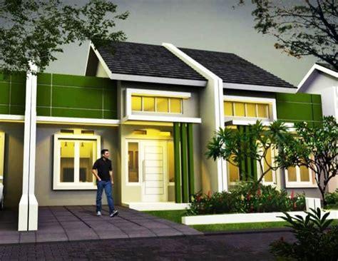 contoh kombinasi cat warna hijau  desain rumah