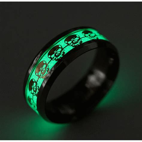 Smile Glow In The glow in the skull band ring and smile