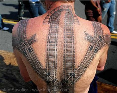 train track tattoo daryl s railroad awesome back tattoos designs for