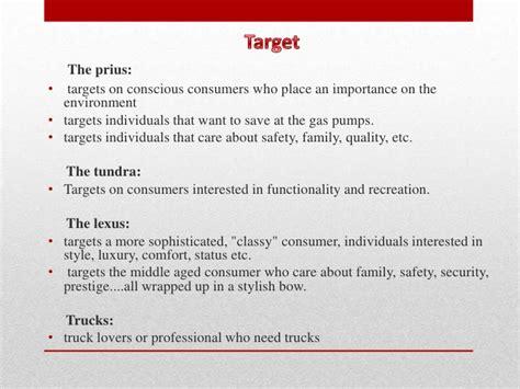 Toyota Marketing Strategy Toyota Target Market Analysis Drugerreport279 Web Fc2