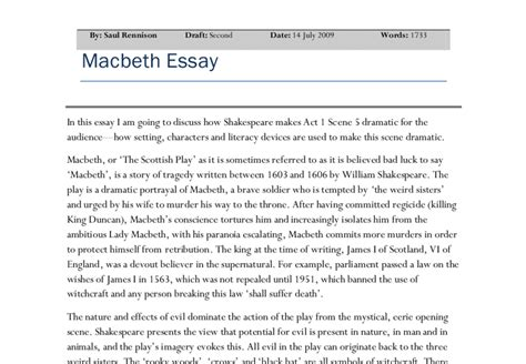essay themes in macbeth macbeth imagery essay blood as an image of honor betrayal