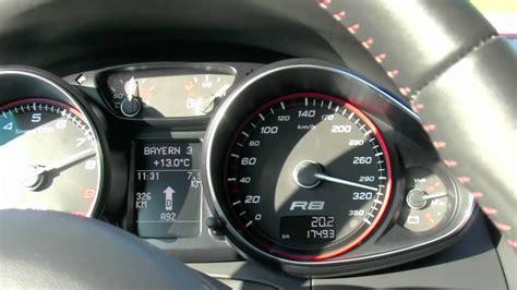 audi r8 v10 spyder top speed