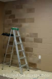 Painting Concrete Walls In Basement by How To Paint A Concrete Wall To Look Like Stone Beyond