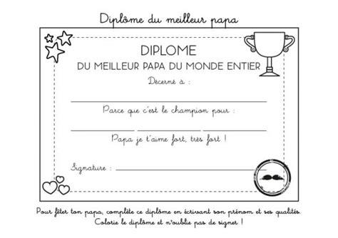Coloriage 224 Imprimer Dipl 244 Me Du Meilleur Papa Du Monde
