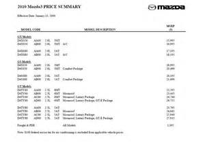 mazda 3 dimensions 2010 official 2010 mazda3 specs features