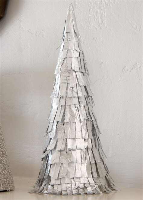 tin foil cone tree christmas pinterest trees the o