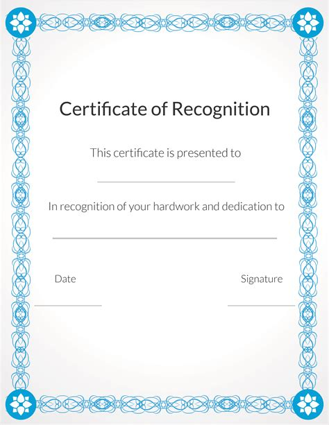 sample certificate of appreciation temaplate 24 download