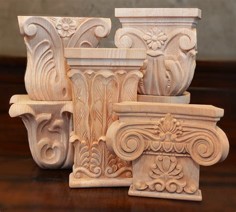 Wood Capitals And Corbels capitals and capitals as a historical architectural elements