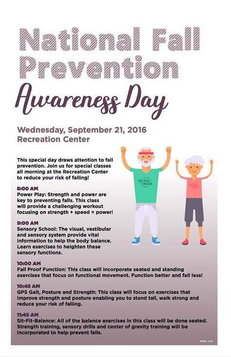 rec center national fall prevention awareness day  top