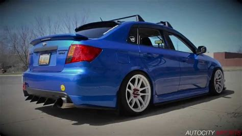 subaru wrx custom blue 2010 wrx gymkhana 1 exhaust custom