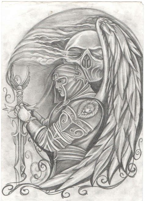 warrior angel by kiddotattoo on deviantart