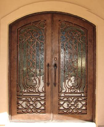 Iron And Glass Front Doors Finished Wrought Iron Exterior Doors With Wood Design For Rot 0211 Iron Front Door And 11 Color