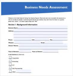 needs assessment template needs assessment 8 free sles exles format