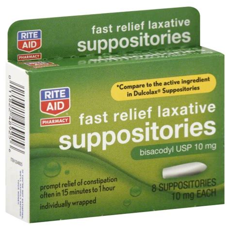 Stool Constipation Relief by Rite Aid Pharmacy Laxative Fast Relief 10 Mg