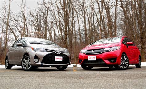 Honda Fit Vs Toyota Yaris by 2015 Honda Fit Vs 2015 Toyota Yaris Autoguide News